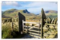 Gate on Mountain Path, Acrylic Print