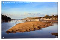 Afon Conwy River at Low Tide, Acrylic Print