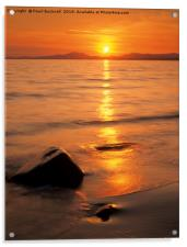 Tremadog Bay Sunset, Acrylic Print