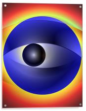 Abstract Eye Illustration, Acrylic Print