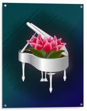 Tulips In Piano, Acrylic Print