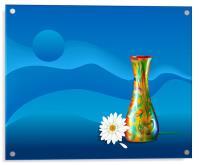 Gerbera Flower and Vase, Acrylic Print