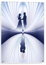 Wedding Couple Reflection, Acrylic Print