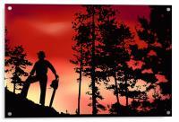 Landscape Worker, Acrylic Print