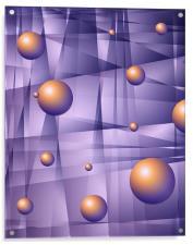 Purple Fractals, Acrylic Print