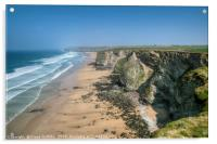 View over Watergate Beach, Acrylic Print