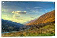 Sunset in Glen Docherty, Acrylic Print