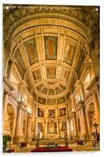 The Apse of Santa Maria church, Belem, Lisbon., Acrylic Print