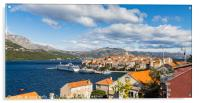 Colours of Korcula old town, Acrylic Print