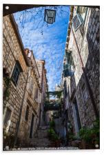 Beautiful narrow street in Dubrovnik, Acrylic Print