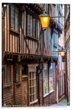 Lady Peckett's Yard, York, Acrylic Print