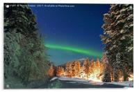 The Aurora Borealis , Acrylic Print