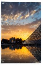 Louvre Sunset, Acrylic Print