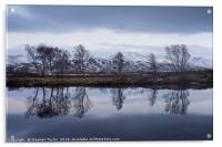 Steely Skies on Rannoch Moor, Acrylic Print