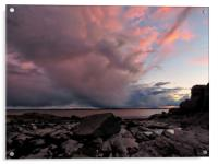 Stormy Sunset          , Acrylic Print
