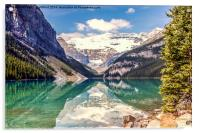 Reflections from Lake Louise Canada, Acrylic Print