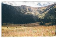 Autumn Mountain Landscape, Acrylic Print