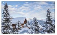 Chalet with a view, Acrylic Print