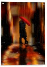 A deluge of love fantasy love and romance, Acrylic Print