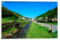 Boscastle Ten Years After The Flood , Acrylic Print