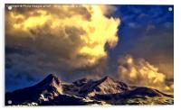 Clouds Over The Cuillins ( Painter version ), Acrylic Print