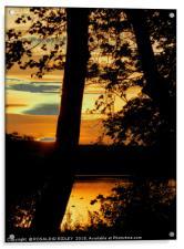 """Sunset across the lake"", Acrylic Print"