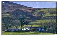 """""""Midday Winter sun on Loweswater Village"""", Acrylic Print"""