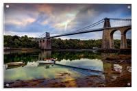 Menai Suspension Bridge, Acrylic Print