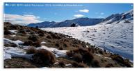 The beauty of snow on mountain,, Acrylic Print