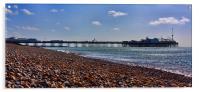Brighton Pier & Beach, Acrylic Print