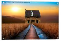 the little brick House , Acrylic Print