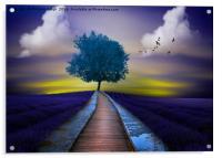 Feeling Blue , Acrylic Print