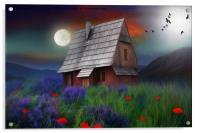 the little cabin , Acrylic Print