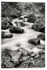 Wyming Brook waterfall, Acrylic Print