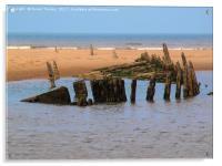 Formby shipwreck, Acrylic Print