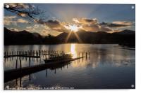 Last Light Over Derwentwater, Acrylic Print