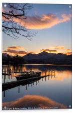 Sunset at Derwentwater, Acrylic Print