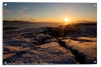 Icelandic Sunset, Acrylic Print