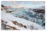 Gullfoss Waterfall, Iceland, Acrylic Print