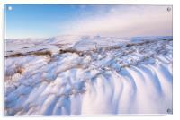 Peak District snowdrifts, Acrylic Print