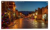 Castleton Main Street, Derbyshire, Acrylic Print