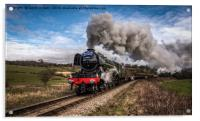 Flying Scotsman heading up Esk Valley, Acrylic Print
