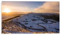 A snowy day on Mam Tor, Acrylic Print