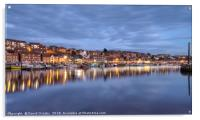 The blue hour at Whitby, Acrylic Print