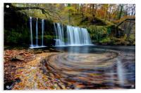 Sgwd Ddwli Uchaf - Waterfall, Wales, Acrylic Print