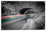 Grand Union Canal Speeding Boat, Acrylic Print