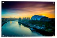 Sage Sunrise Gateshead, Acrylic Print