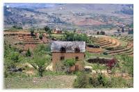 Typical housing of Highland Madagascar, Acrylic Print