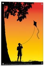 Childhood dreams, The Kite, Acrylic Print