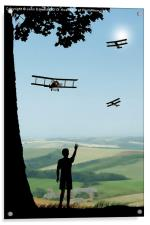 Childhood Dreams - The Flypast, Acrylic Print